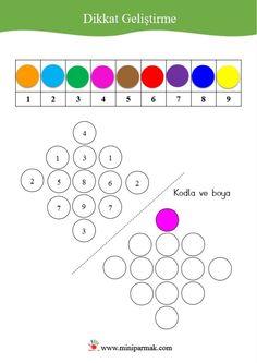 Miniparmak/dikkat geliştirme Montessori, Worksheets, Kindergarten, Coding, Activities, Math, School, Teaching Supplies, Occupational Therapy