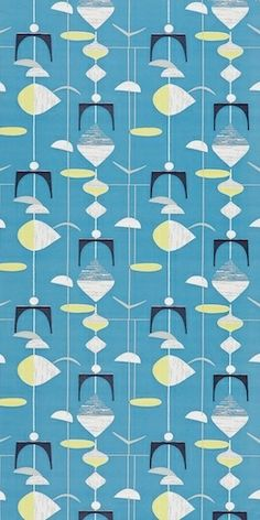Mobiles Slate Blue/Lime DFIF210215, £43.00 (http://www.britishwallpapers.co.uk/mobiles-slate-blue-lime-dfif210215/)