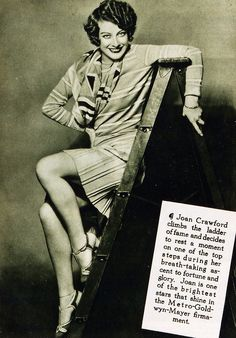 """Joan Crawford, 1929: """"Joan is the brightest of the bright stars that shine in the Metro-Goldwyn-Mayer firmament."""""""