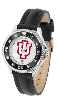 Indiana Hoosiers Women's Leather Sports Watch by SunTime. $68.95. Adjustable Band. Date Calendar And Rotating Bezel. Officially Licensed Indiana Hoosiers Women's Leather Sports Watch. Poly/Leather Band. Women. Indiana Hoosiers Women's Leather Sports Watch. The Hoosiers wris watch features functional rotating bezel color-coordinated to compliment team logo. A durable, long-lasting combination nylon/leather strap, together with a date calendar, round out this best-selli...