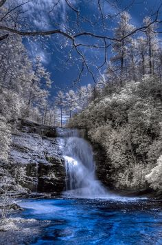 Secret Falls, Nantahala National Forest, Highlands, North Carolina, USA