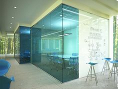 Glassed in Computer area /Teen area ? writable glass from http://www.clarusglassboards.com/furniture-glass/