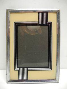 Photo Frame X3 Triple Antique Wood Glass Art Deco Frame 1930 Vintage Xx ° S Art Deco