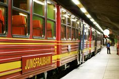 Jungfraujoch - cog train that takes you up to the Jungfraujoch -- the Top of Europe. 11,333 feet high.
