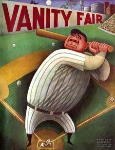 The Decade 1930-1940 - Illustration History, Miguel Covarrubias, cover illustration, Vanity Fair magazine, 1933.
