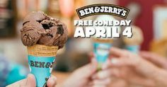 Ben & Jerry's: FREE Ice Cream Cone On April 4th (12-8 PM) Deal - https://couponsdowork.com/2017/freebies-giveaways/ben-jerrys-free-ice-cream-cone-on-april-4th-12-8-pm-deal/