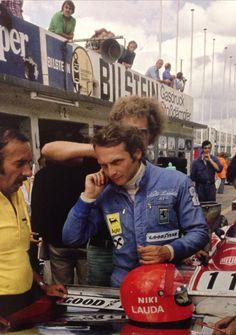 Niki Lauda and Ermanno Cuoghi German Grand Prix 1974