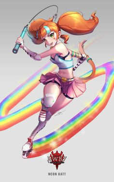 """""You should try rollerblading sometime! It,s super fun! Rwby Anime, Rwby Fanart, Manga Anime, Neon Katt, Character Art, Character Design, Team Rwby, Anime Nerd, Game Art"