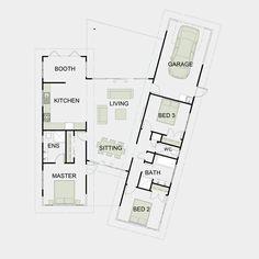 design plans simple www. NZ Simple Functional Floor Plans 2 www. Simple Floor Plans, Open Floor House Plans, Home Design Floor Plans, New House Plans, Building A Container Home, Container House Plans, Container House Design, Concept Board Architecture, House Extension Design