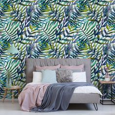 In the thickets of leaves • Contemporary - Bedroom - Nature - Wall Murals ✓ 365 Day Money Back Guarantee ✓ Consulting on the Pattern Selection ✓ 100% Safe✓ Set up online!