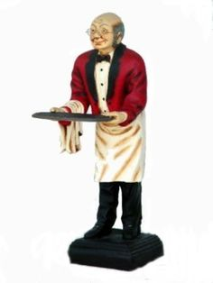 71448fcd72b6d8 Old Man Butler Life Like Butler Statue will Serve Your Guest With Pleasure!  Statues For