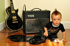 Baby photography rock star