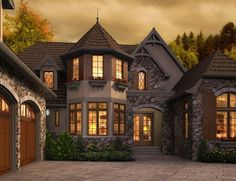Old world style homes on pinterest english cottages for Rivendell cottage house plans