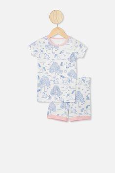 Nikki Short Sleeve Pajama Set | Baby, Toddler & Kids Clothing | Cotton On Kids Kids Usa, Latest Colour, Pajama Top, Jersey Shorts, Pj Sets, Fun Prints, Pyjamas, Soft Fabrics, Nice Dresses