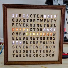 another word clock #handmade #crafts #HowTo #DIY