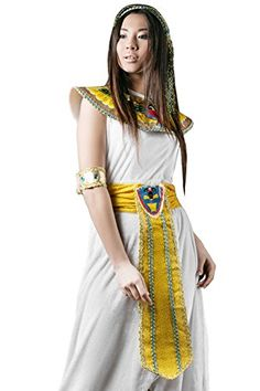 There is nothing more sexy and cool as being an Egyptian princess or perhaps even Cleopatra for Halloween.  Finding trendy womens Egyptian Halloween costumes is easier than you think.  Adult Women Cleopatra Halloween Costume Great Isis Egyptian Dress Up & Role Play (Small/Medium)