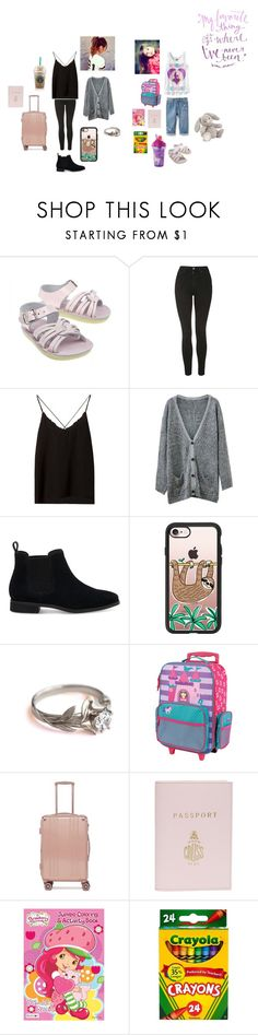 """""""Untitled #713"""" by cuddles2199 ❤ liked on Polyvore featuring Old Navy, Topshop, Massimo Dutti, Chicnova Fashion, TOMS, Casetify, Stephen Joseph, CalPak and Mark Cross"""