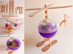 Plastic Popsicle Helicopter