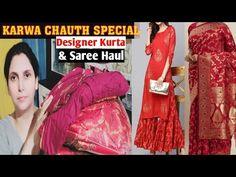 Karwa Chauth Special DESIGNER Saree & Outta Set Haul /Online Best Saree & Kurta Set - YouTube