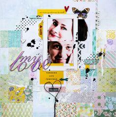 """Scrapmanufaktur/Stephanie Schütze: Scrapbooking Layout """"My love"""""""