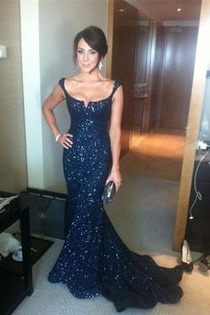 Gorgeous Long Mermaid Prom Dresses,Sparkly Navy Blue Prom Gowns,Beautiful Evening Gowns,Formal Prom Dress For Teens