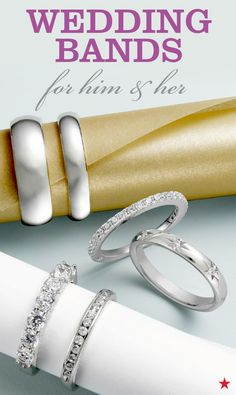 Don't forget the shiniest part of your big day! Choose beautiful wedding bands for him and for her that symbolize your endless love. Wedding Bands For Him, Womens Wedding Bands, Wedding Jewelry, Wedding Rings, Wedding Engagement, Engagement Rings, Pretty Rings, Body Jewelry, Don't Forget