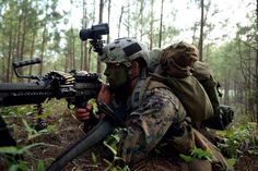 United States Marine Corps Forces Special Operations Command (MARSOC) operator...