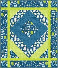 Free Projects | Diamond Sparkle Quilt by Larene Smith | Dream a Little Dream by Heather Rosas for Camelot Fabrics