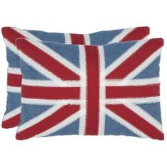 @Overstock - With a fresh, eye-catching pattern, this decorative pillow is a lovely addition to any decor. This throw pillow features a timeless union jack print design with a handwoven cotton cover.http://www.overstock.com/Home-Garden/Union-Jack-13-inch-x-19-inch-Red-Decorative-Pillows-Set-of-2/6641142/product.html?CID=214117 $50.99