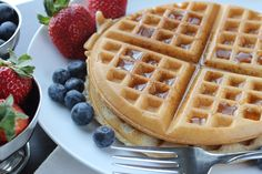 Gluten free waffles that are truly delicious, even for the non gluten free family members