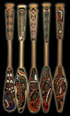 Paddles ~ Artist: Troy Roberts Tribal affiliation: Kwakiutl
