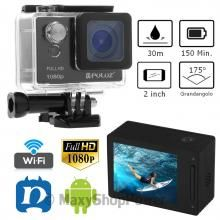 "PULUZ U6000 VIDEOCAMERA SPORTIVA SPORT ACTION CAM FULL HD 1080P 2"" LCD IMPERMEABILE 30M NERA FREE APP ANDROID IOS BLACK NERA - SU WWW.MAXYSHOPPOWER.COM"