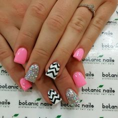 Cute but I would do pink and white for chevron pattern instead of black and white