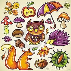 Autumnal Set Royalty Free Stock Photography - Image: 16445157