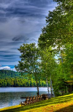 #ADK #Adirondacks - View Of Fourth Lake From The Woods Inn