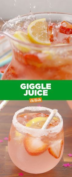 Best Giggle Juice Recipe – How to Make Giggle Juice Hehehehe. Refreshing Drinks, Yummy Drinks, Healthy Drinks, Nutrition Drinks, Healthy Food, Healthy Recipes, Slushies, Giggle Juice Recipe, Beste Cocktails