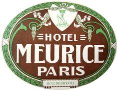 Hotel Meurice ~ Paris ~ Frnce
