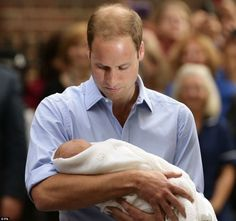 Future kings of England: Prince William and his newborn son, HRH Prince George Alexander Louis. (I figured they would name him George for his great-great grandfather -- whom Colin Firth played in The King's Speech).