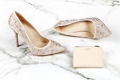 Carvela Kurt Geiger 'Gemini' pink satin and diamente court shoes