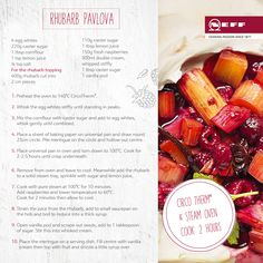This delicious Neff recipe makes the most of Spring rhubarb. Yum!