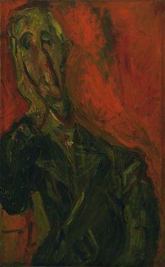 Chaim Soutine. Man in a Green Coat. c. 1921