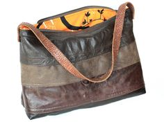 Bage made of leather from four jackets