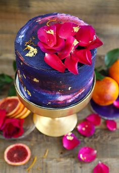 Blood Orange Winter Watercolor Cake Recipe