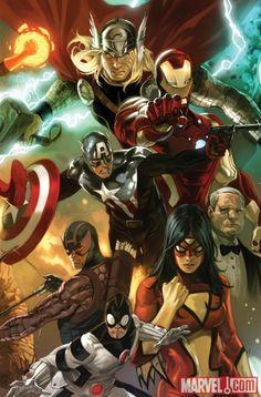 #Avengers #Fan #Art. (The Avengers #01 Variant Cover) By: Marko Djurdjević. ÅWESOMENESS!!! [THANK U 4 PINNING!!]
