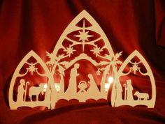 Gothic Nativity Scene by PeWood on Etsy, €26.00
