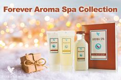 Indulge your senses with this 3-piece collection of aromatherapy spa products.