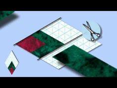 """Vlieseline Rasterquick """"Dreieck"""" - Patchwork Einlage mit aufgedrucktem 60° - YouTube"""