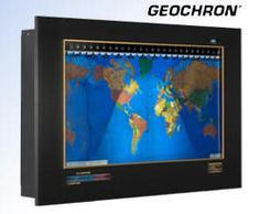 Geochron (Free Shipping)  The Geochron worldclock is a hand-crafted timepiece that showcases the time and light patterns anywhere in the world by timezone