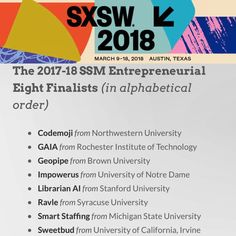 We made it to the finals of SXSW! The Librarian AI team is head deep into the heart of Texas see you in Austin!! Hook Em!  #sxsw #entrepreneur #startup #artificialintelligence #stanford #librarian #siliconvalley #youalreadyknow #hollaback #justgettingatarted #noflexzone
