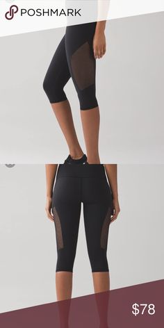 NWT Lululemon reveal crop NWT Lululemon reveal crop. Vented sides with super comfy fit and material lululemon athletica Pants Leggings